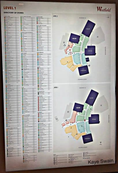 Kaye Swain sharing Galleria Roseville Mall directory and Galleria Mall map Roseville sharp wm