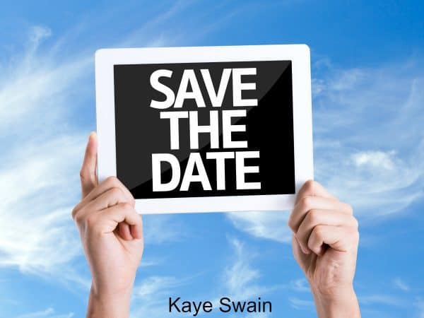 Kaye Swain sharing save the date things do Roseville soon