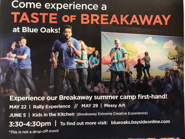 Kaye Swain Sharing Taste of Breakaway at Bayside Church Blue Oaks Campus