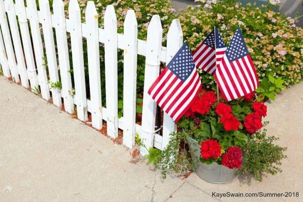 Kaye Swain sharing patriotic things do Roseville seniors boomers kids grandkids