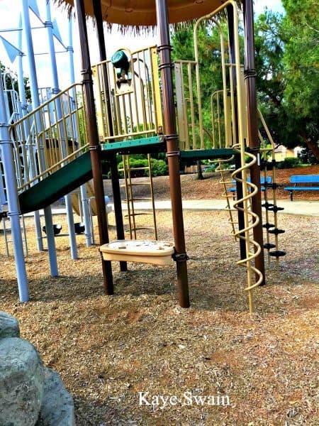 Kaye Swain Roseville REALTOR sharing climbing fun at Olympus Park