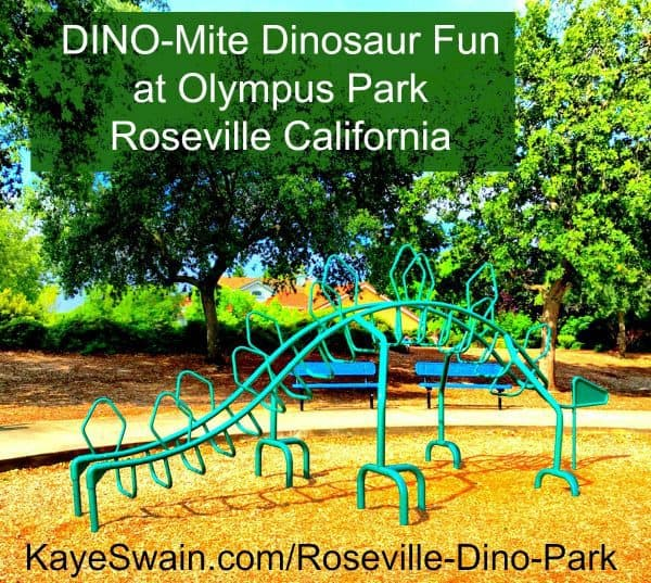 Kaye Swain sharing Cool Dinosaur climbing jungle gym at Pinterest AND Roseville California Joys dinosaur park | dinosaur parks | Roseville CA | Roseville California | Rpseville California Things to Do | Dinosaurs | grandbaby | grandbabies | grandchildren | grandkids | Olympus Park is full of dinosaur fun in Roseville CA