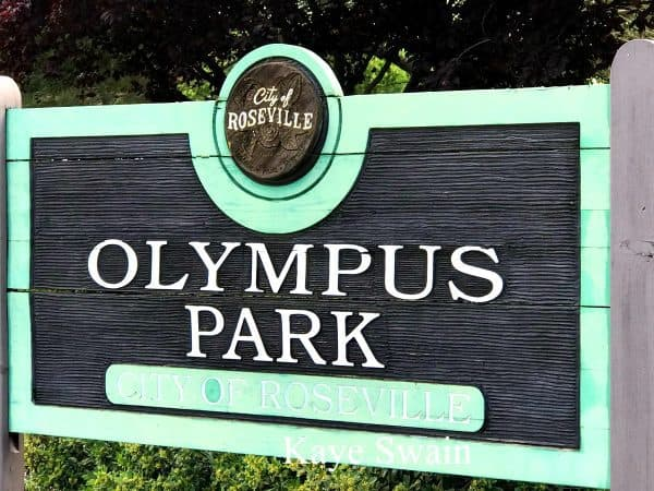 Olympus park is one of the over 75 Roseville parks we enjoy