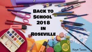 Back to school in Roseville California 2018