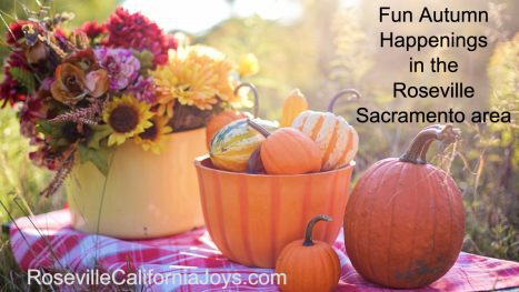 Fun Autumn Fall things to do Roseville Sacramento area