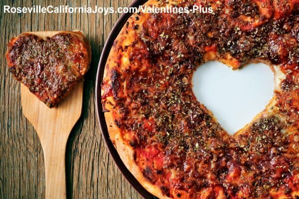 A different take on Valentines Day Pizza Roseville CA 2019