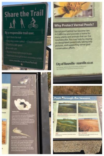 West Roseville parks sign about Vernal Pools