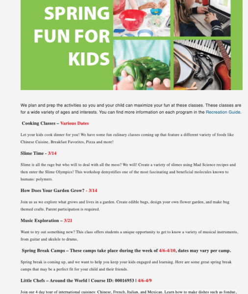 Kaye Swain Roseville REALTOR sharing Spring fun for kids