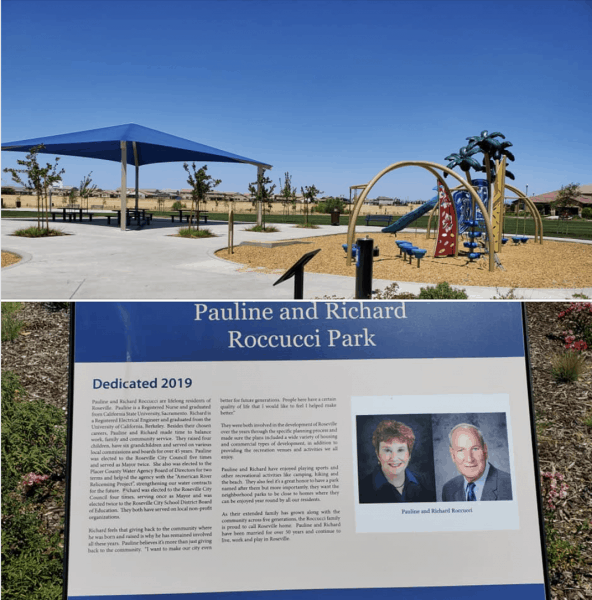 Pauline and Richard Roccucci Park in West Roseville near Pleasant Grove and Westbrook