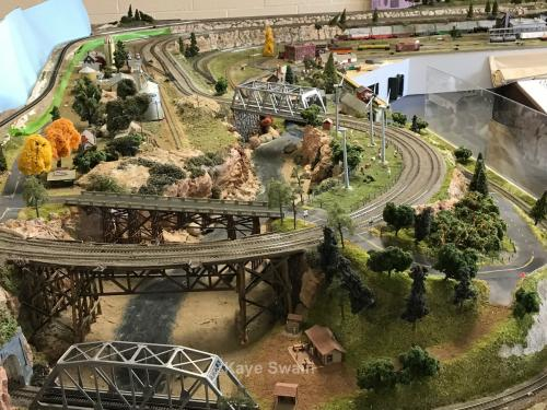Roseville Roundhouse Model Railroad Club Visit part of layout
